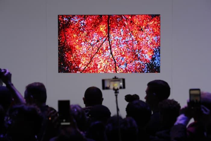 삼성전자도 세계 최소형 마이크로 LED 기술이 적용된 제품과 스크린을 공개 했다 ⓒ 갓잇코리아