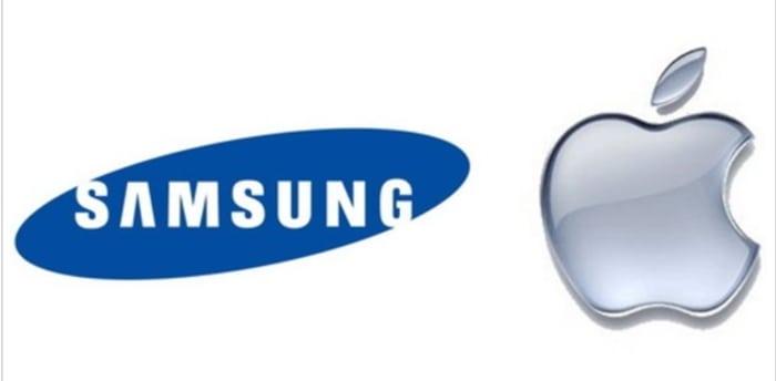 삼성전자, 애플의 기업 로고 © 갓잇코리아