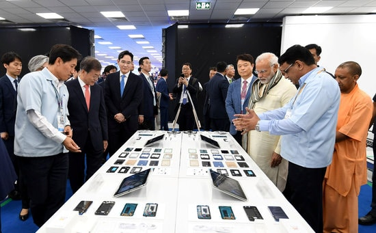 뉴델리 인근 노이다 공단에서 개최된 삼성전자 신공장 준공식 ⓒ 갓잇코리아