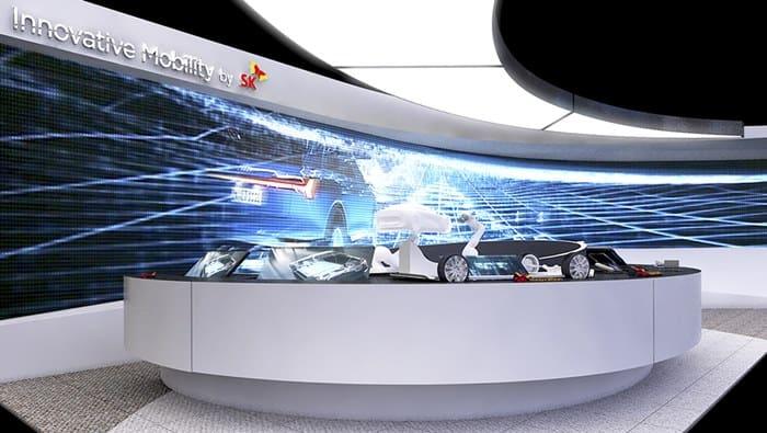 SK텔레콤이 CES2019에 조성할 예정인 전시부스 모습(SK텔레콤 제공)© 갓잇코리아