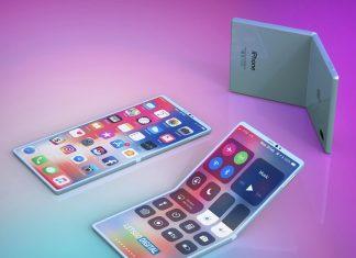 애플의 폴더블 스마트폰 렌더링 이미지. © 갓잇코리아