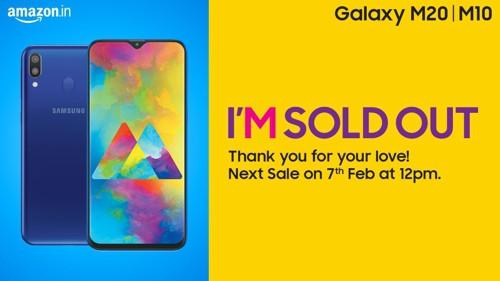 삼성전자가 인도에 출시한 갤럭시M시리즈가 아마존에서 판매 개시 3분만에 매진됐다 © 갓잇코리아