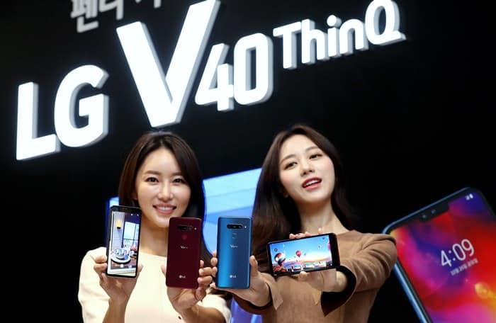 5개의 카메라를 장착한 전략 스마트폰 LG V40 ThinQ를 소개 ⓒ 갓잇코리아