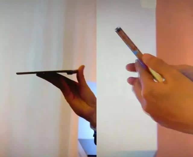화웨이의 첫 폴더블 스마트폰 '메이트X' (웨이보 캡처) © 갓잇코리아