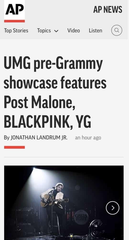 AP 뉴스 ⓒ 블랙핑크 미국 데뷔