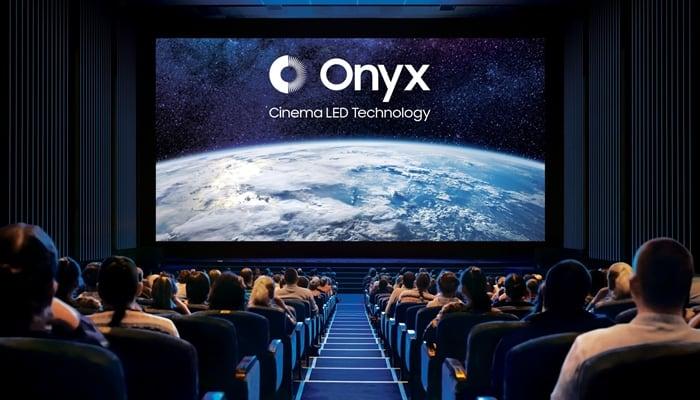 삼성전자가 2017년 론칭한 극장용 대형 시네마 LED '오닉스(ONYX)' 상영관의 모습(삼성전자 제공) © 갓잇코리아