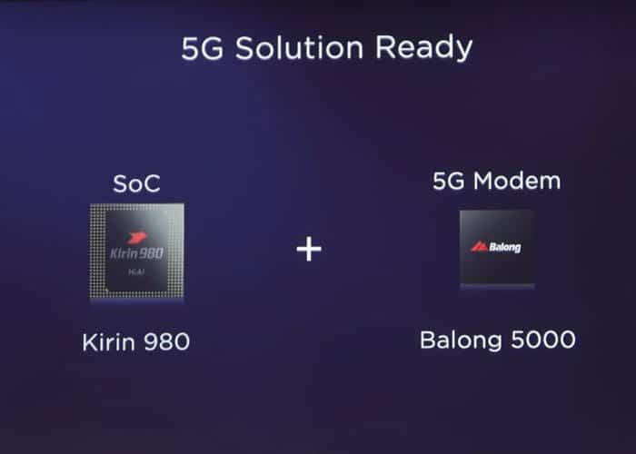 화웨이가 개발한 5G 칩셋