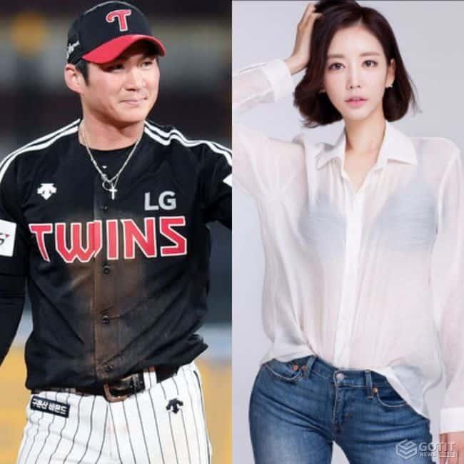 LG 오지환♥쇼호스트 김영은..열애+임신 4개월! 혼인신고→시즌 후 결혼