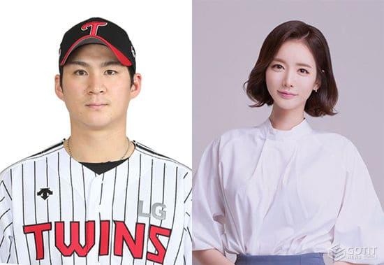 LG 오지환, 쇼호스트 김영은과 결혼 전제 열애…임신 4개월