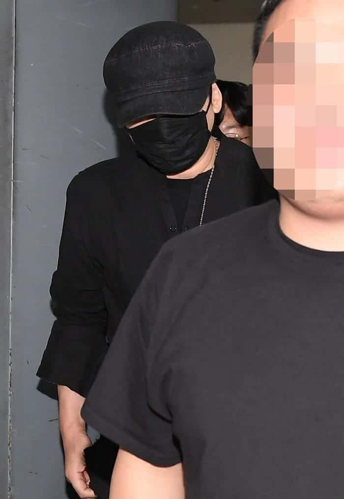 경찰조사 마친 양현석 '취재진 피해 지하주차장으로' ⓒ 갓잇코리아