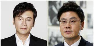 양현석 YG 총괄 프로듀서(왼쪽)와 양민석 YG 대표 / 사진 출처=YG, ⓒ 갓잇코리아