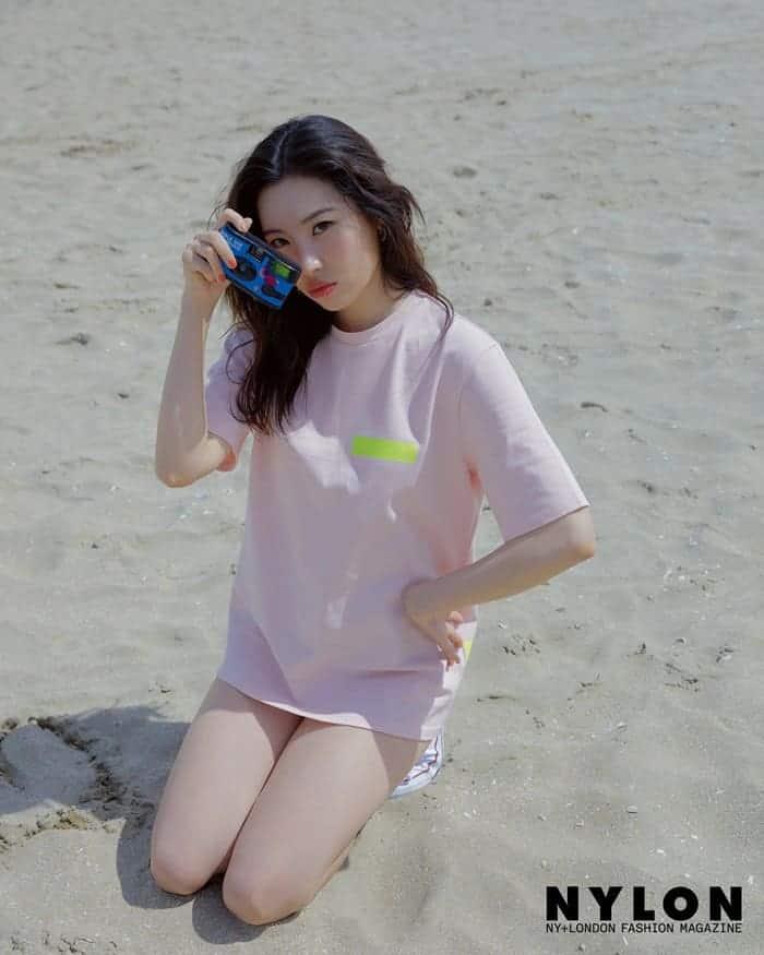 '8kg 증량' 선미, 해변에서 건강美 '뿜뿜' ⓒ 나일론 제공 / 갓잇코리아