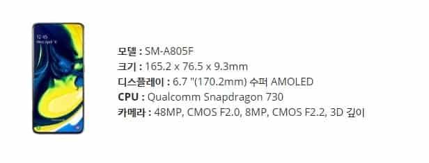 '로테이팅 카메라'가 적용된 삼성전자 갤럭시 A80 ⓒ 갓잇코리아
