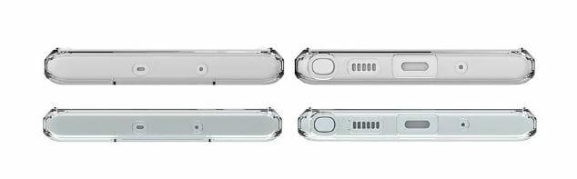 유출된 갤럭시노트10 보호 케이스 렌더링에서 3.5mm 이어폰 단자가 사라졌다. (폰아레나 갈무리) © 갓잇코리아