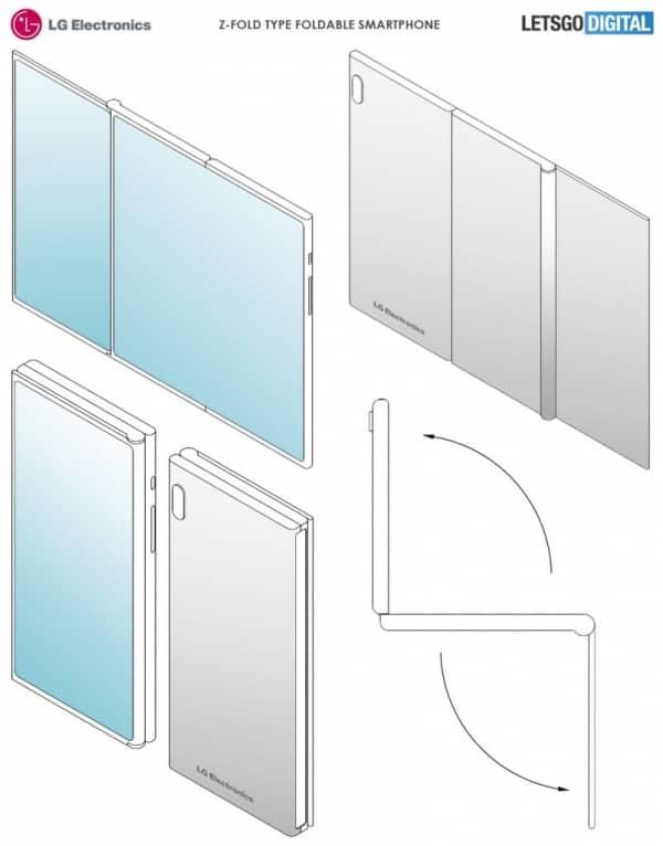 삼성-LG전자 차세대 폴더블은 2번 접는 'Z폴드' 형태?...특허 출원 ⓒ 갓잇코리아