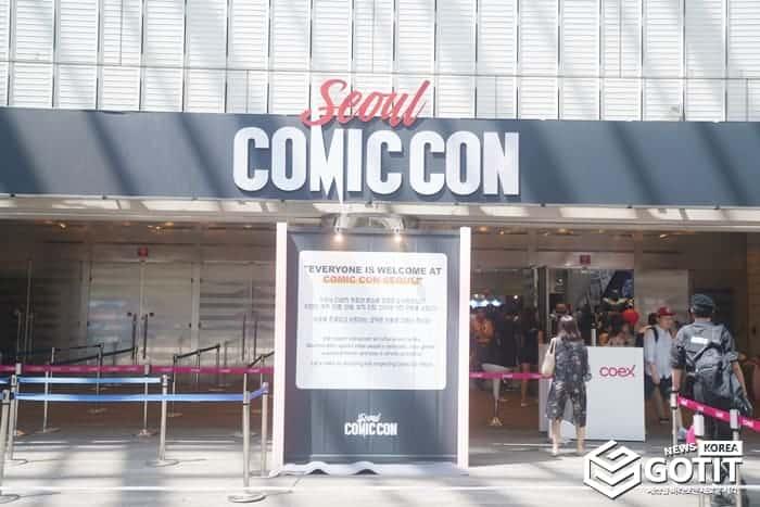 코엑스에서는 '유비데이코리아' 뿐만 아니라 '코믹콘'도 진행되었다 ⓒ 갓잇코리아