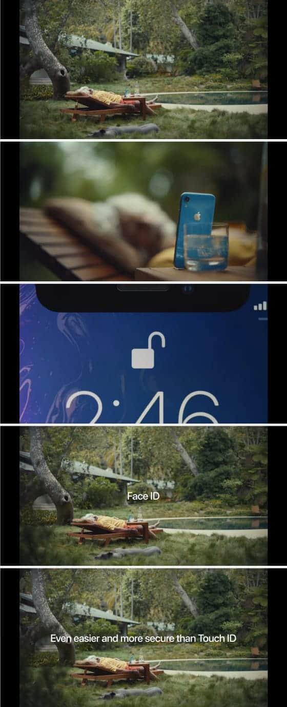 애플의 페이스ID CF 장면(애플 유튜브 갈무리) © 갓잇코리아