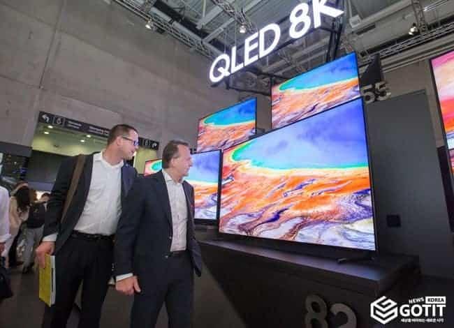 삼성 'QLED 8K' TV의 화질은? ⓒ 갓잇코리아 / 베를린 현장