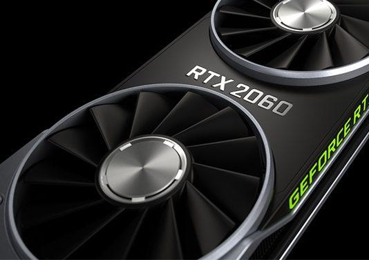 엔비디아 RTX가 적용된 2060 그래픽카드
