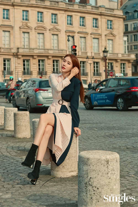 유인나, 파리홀린 가을패션 ⓒ 싱글즈 제공
