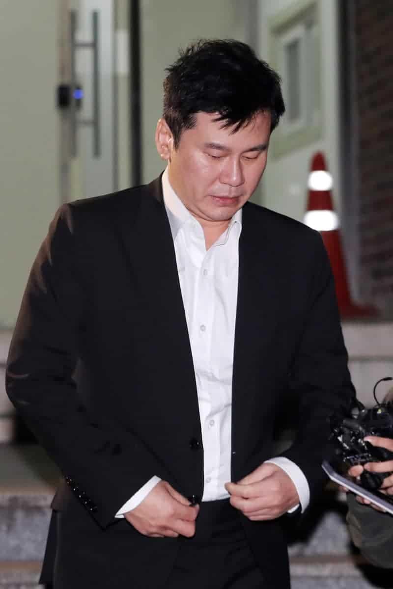 '협박 혐의' 양현석 14시간 경찰 조사 뒤 귀가...영장 신청 검토