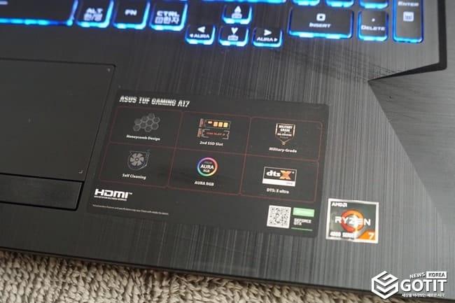 AMD 르누아르 프로세서 탑재! 에이수스 TUF 게이밍 노트북 'FA706'