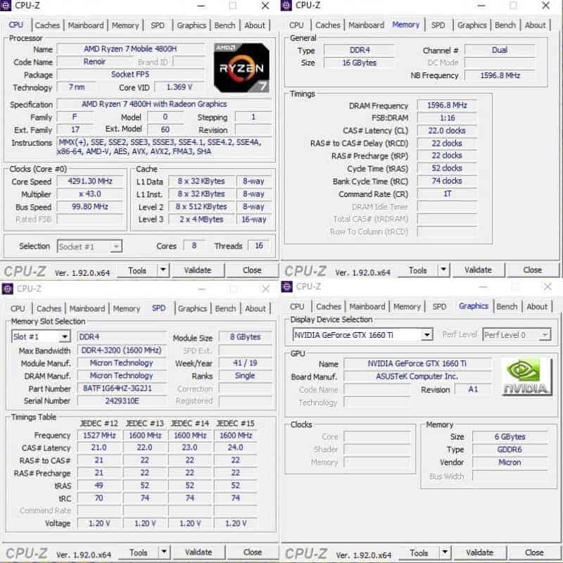 AMD 라이젠 7 4800H가 탑재