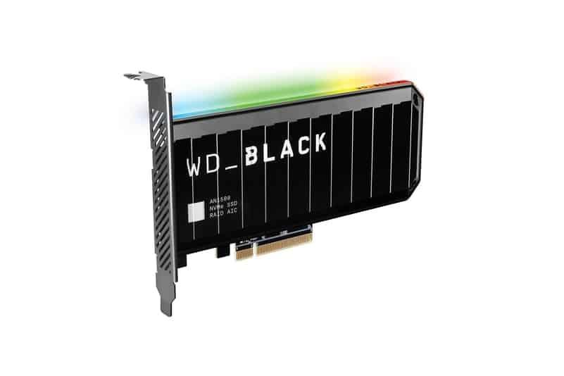WD BLACK AN1500 NVMe SSD 애드인카드
