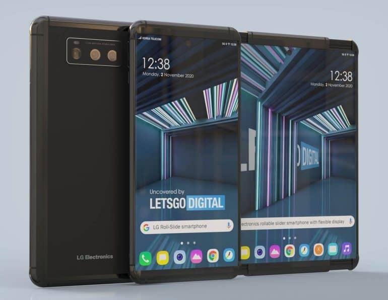 렛츠고 디지털이 공개한 LG전자 롤러블 스마트폰 3D 이미지