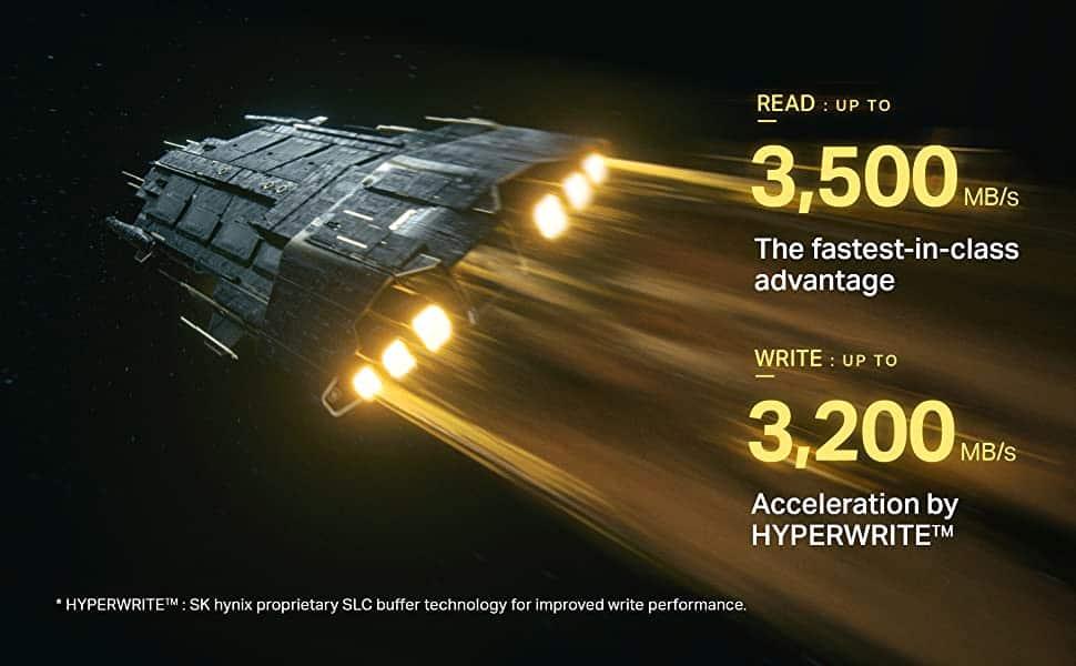골드 P31은 PCIe 3세대 제품군 중 최고 수준인 처리속도를 자랑한다
