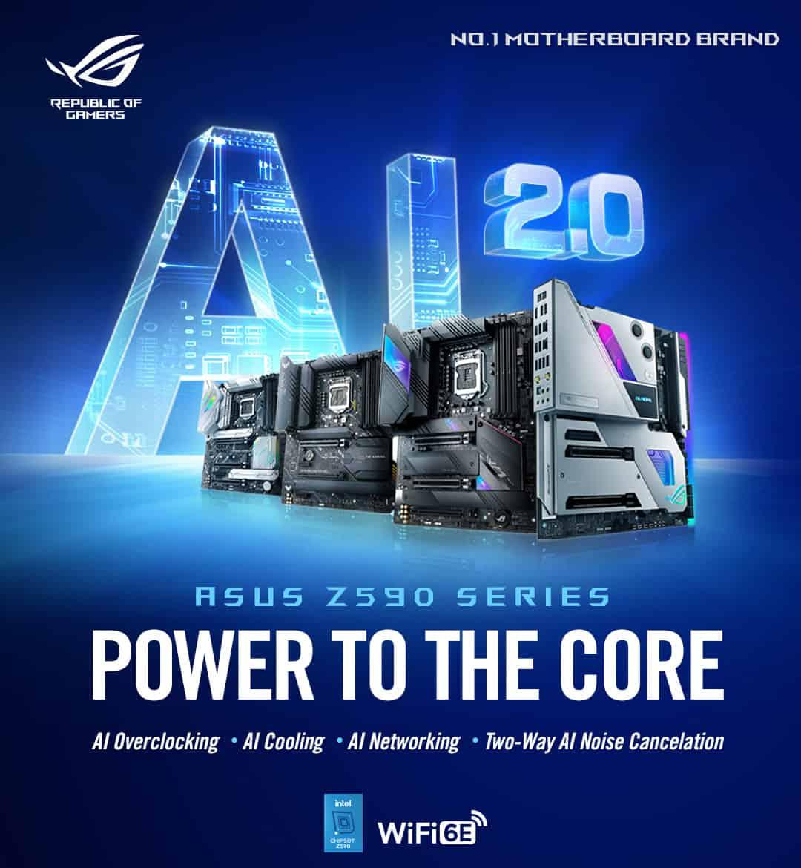 ASUS, 11세대 인텔 코어 프로세서 대응 Z590 칩셋 메인보드 시리즈 출시