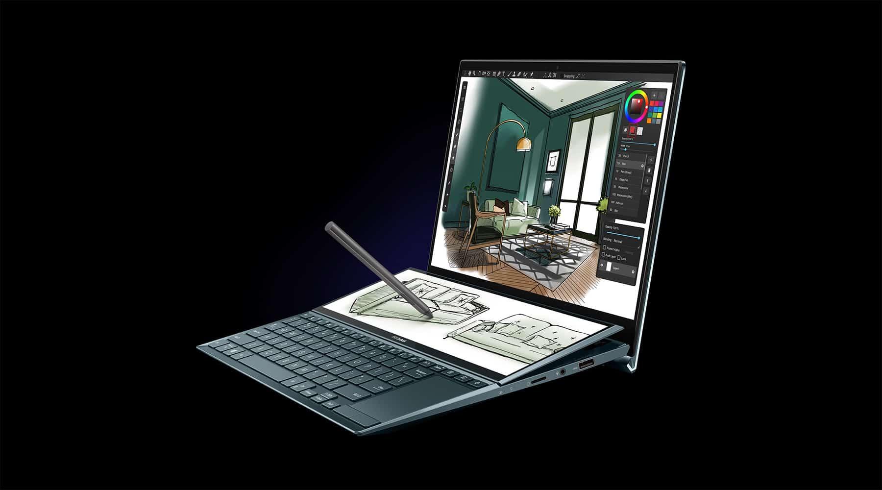 혁신적인 폼팩터가 적용된 에이수스 젠북 듀오 14(UX482) - 에이수스 홈페이지 출처