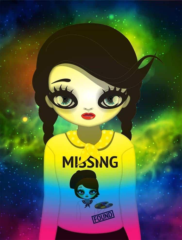 국내 첫 NFT 미술품 경매에서 6억에 낙찰된 마리킴의 'Missing and found' /사진= 피카프로젝트