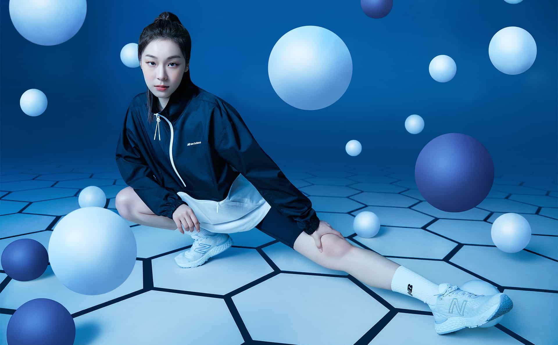 뉴발란스 화보 - 김연아와 딱 어울리는 런닝 패션