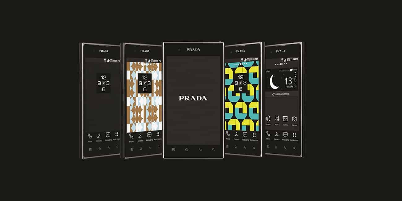 안드로이드 스마트폰에도 프라다폰을 출시했으나 결국 큰 효과를 거두지 못했다 - LG전자 제공