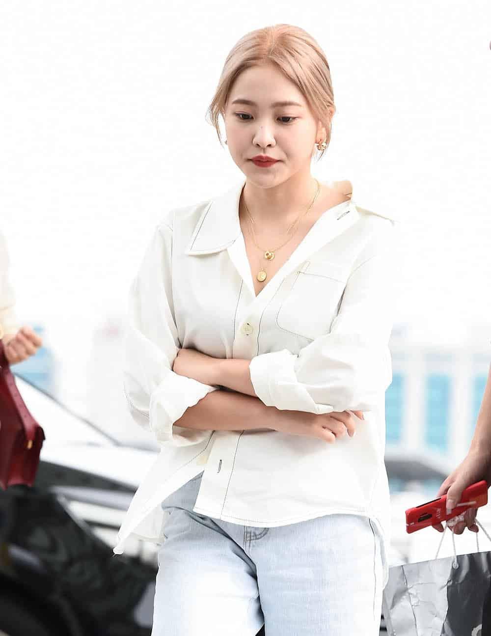 레드벨벳 예리 언발란스 셔츠 패션