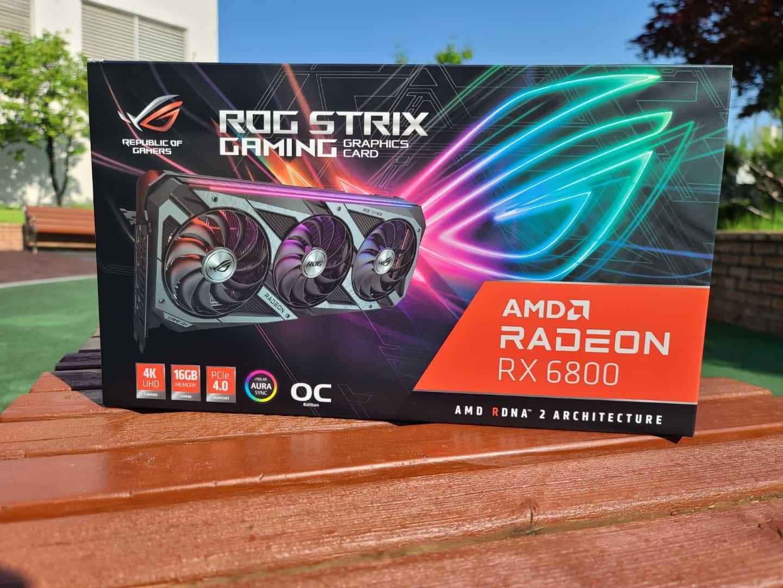 ASUS ROG STRIX AMD 라데온 RX 6800 패키징