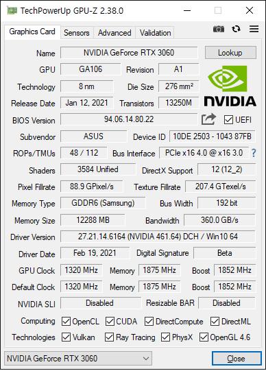 RTX 3060 12GB 그래픽카드