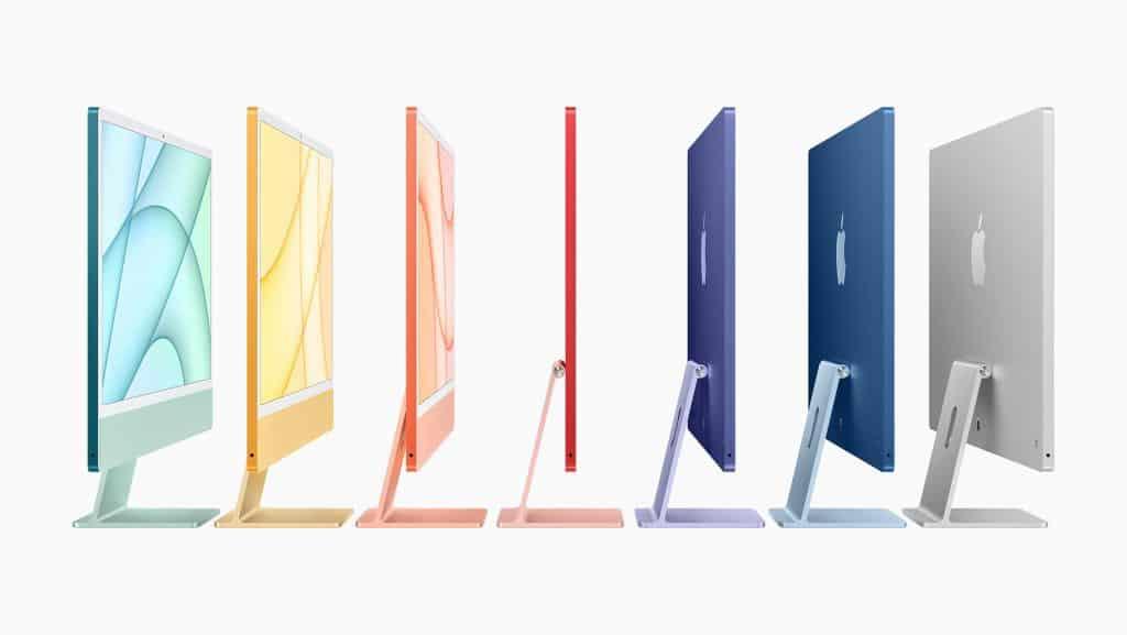 애플이 공개한 다채로운 색상의 아이맥