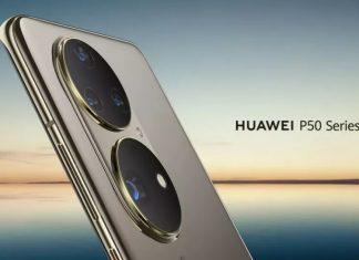 2개의 큰 카메라가 장착되어 왕눈이 카메라로 불리는 화웨이 P50
