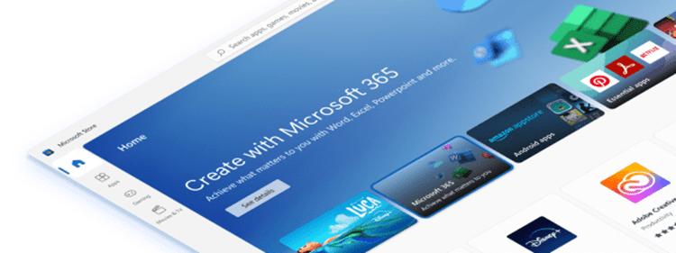 마이크로소프트는 윈도11에서 윈도 운영체제와 타 플랫폼 서비스 간 벽을 낮추려는 시도를 하고 있다