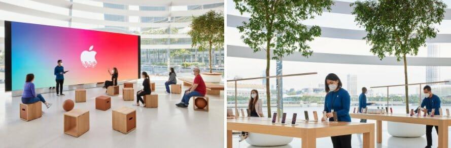 싱가포르 마리나 베이 샌즈의 새 애플 스토어는 9월 10일에 공식적으로 문을 연다
