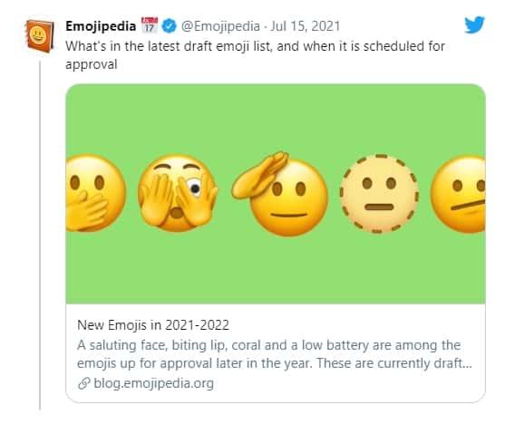 이모지피디아 트위터 @Emojipedia