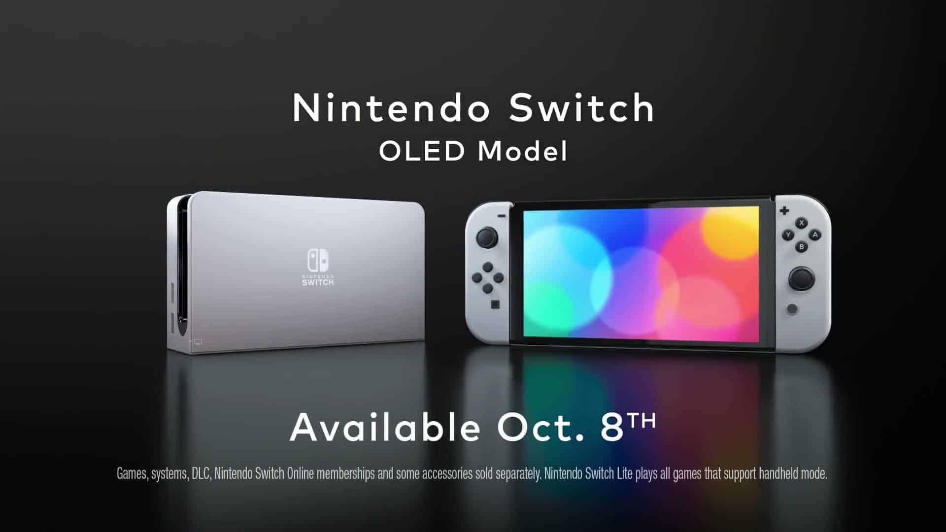 OLED 탑재! 배젤줄여 화면 크기 늘여...신형 닌텐도 스위치 10월 8일 출시