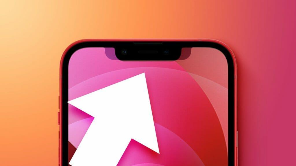 아이폰13은 전작대비 노치가 20% 줄어들었다.
